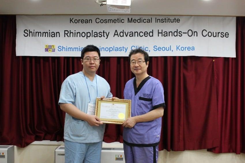 林敬鈞醫師參加鄭東學醫師韓式隆鼻進階班課程